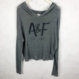 [A&F] Classic Knit Slouchy Hoodie